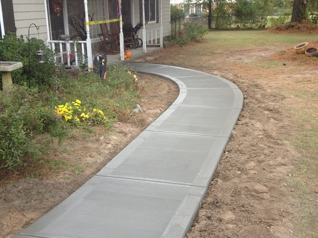 Concrete sidewalk lombard il concrete contractors d e l for Concrete home contractors
